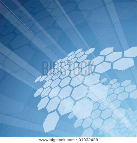 Blue hi-tech background - vector illustration