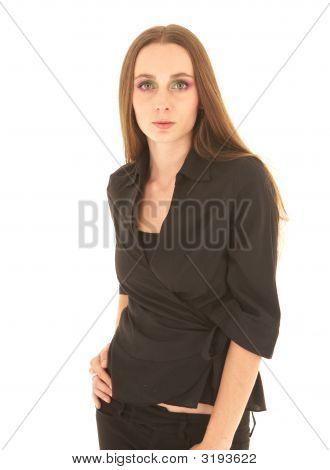 Sexy Brunette Businesswoman