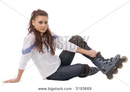 Woman In Roller Skates