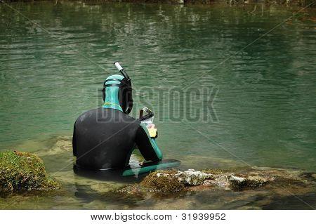 Caver diver