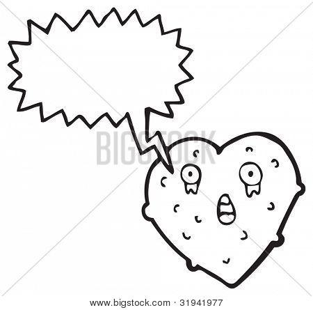 hideous heart cartoon
