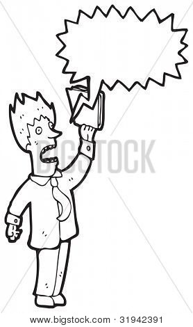 shouting businessman cartoon