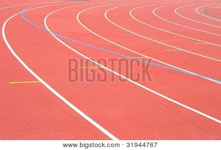 Track Running Stadium Turn Athletic Sport