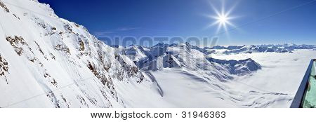 Kitzsteinhorn Peak Ski Resort, Austrian Alps