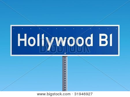 Hollywood Bl sign