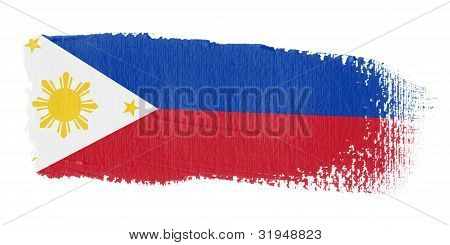 Brushstroke Flag Philippines