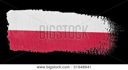 Brushstroke Flag Poland