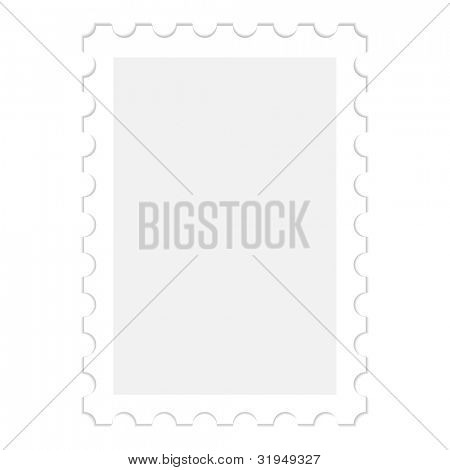 illustration of a blank stamp, isolated on white