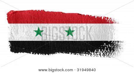 Brushstroke Flag Syria
