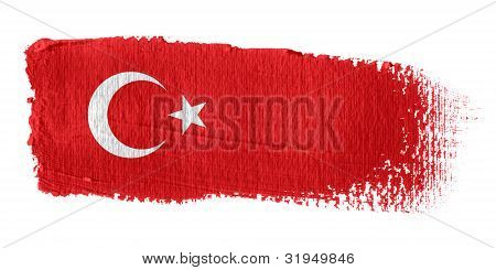 Brushstroke Flag Turkey
