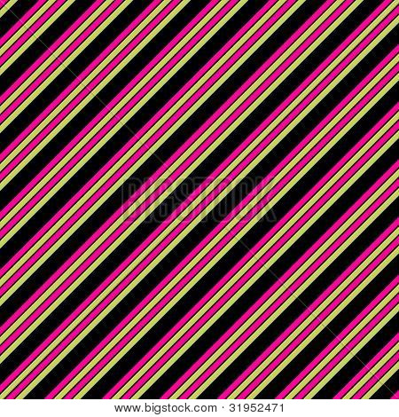 Black Pink & Lime Diagonal Stripe Paper