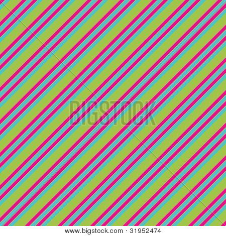 Pink Lime & Blue Diagonal Stripe Paper