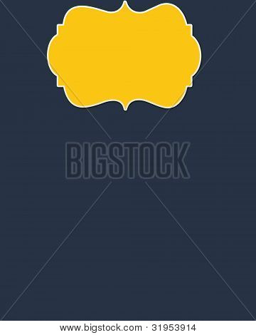 Navy Background & Yellow  Header