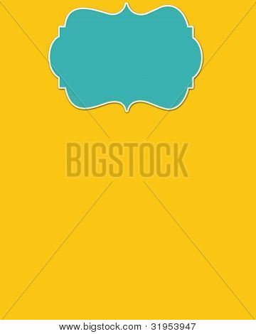 Yellow Background & Light Blue Header