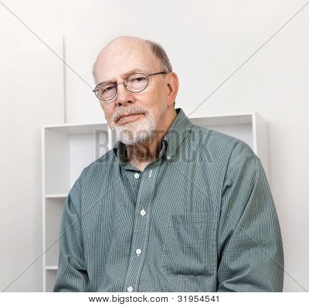 Pleasant Senior Man Portrait