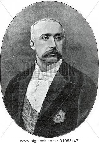 Felix Faure, President of the Republic of France. Autotype by