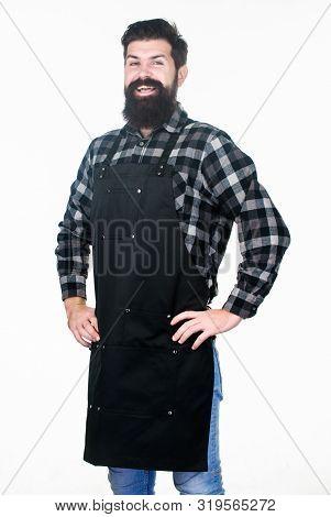 poster of Beard Grooming Salon. Well Groomed Macho Barber. Uniform For Barber Salon. Barbershop Concept. Haird