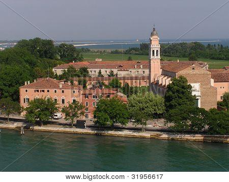 Church & Belltower Near Venice, Italy