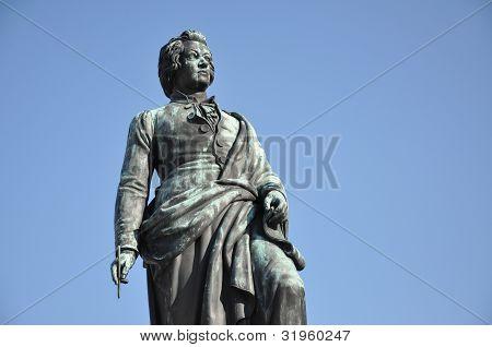 The Statue Of Wolfgang Amadeus Mozart, Salzburg, Austria
