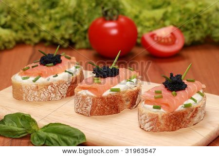 Fingerfood With Smoked Salmon