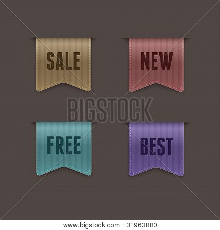 Set of 4 quality vector ribbons