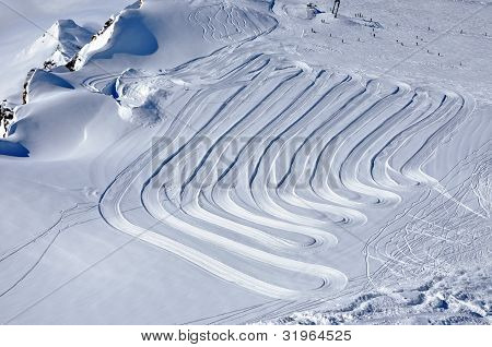 Kaprun ski slopes, Austrian Alps