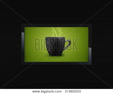 schwarz lcd tv