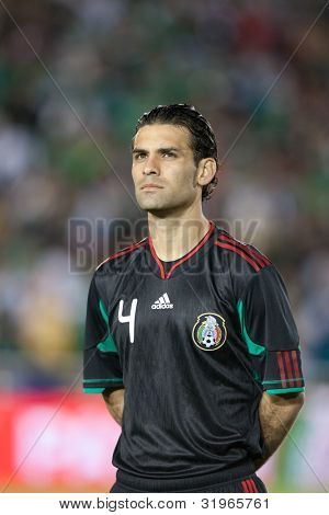 PASADENA, CA. - March 3: Rafael Marquez during the New Zealand vs. Mexico friendly on March 3 2010 at the Rose Bowl in Pasadena.