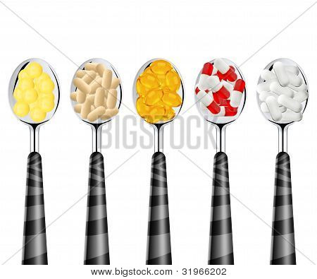 Spoons Of Pills