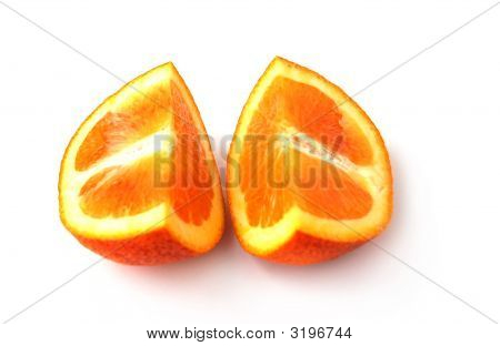 Quarters Of Orange