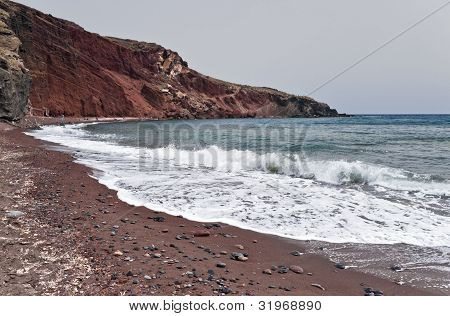 Famous Santorini Red Beach