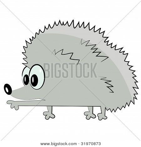 hedgehog pointing. cartoon animal icon