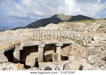 Antike Thira auf Santorin, Griechenland