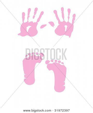 baby girl handprint - footprint