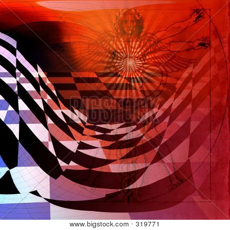 Abstract Art - Man And Medicine - Swirling Art Pattern