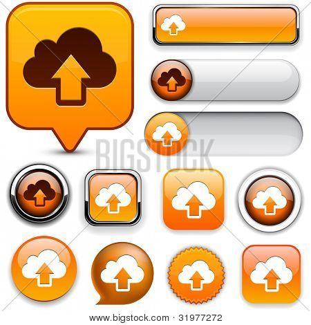 Sync orange design elements for website or app. Vector eps10.