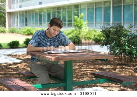 Student Concentrating