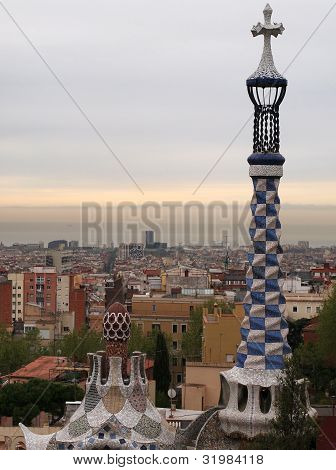 Barcelona Seen From Park Guell