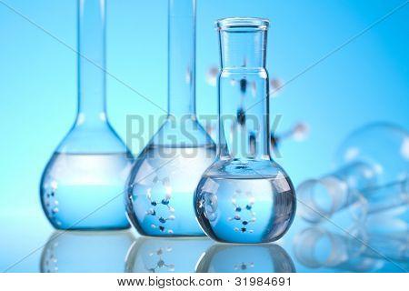 Equipo de química, cristalería de laboratorio