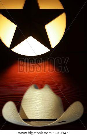 Symbole des Westens, Cowboy-Hut und die lone star