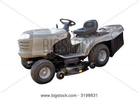 Gray Lawnmower Isolated
