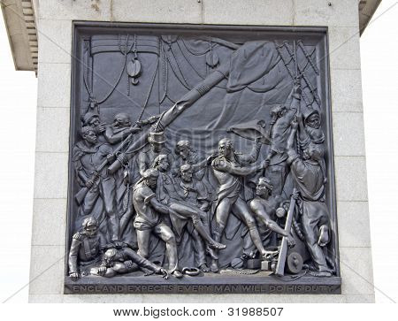 Nelson Memorial In Trafalgar Square, London