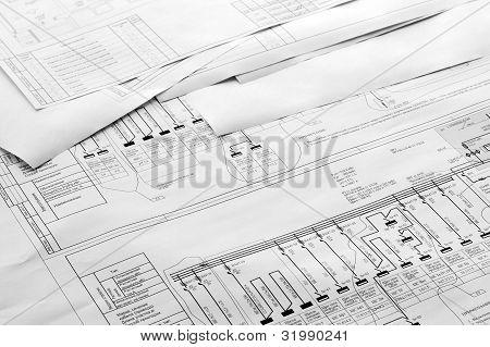 Desenhos de planta arquitetônica