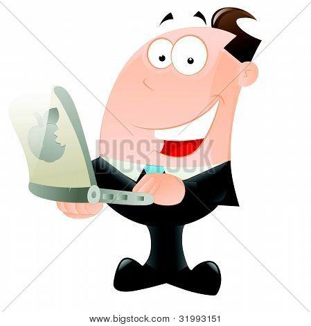 glücklich kaufmann mit laptop