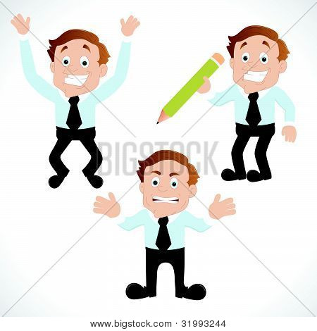 Businessman Various Poses
