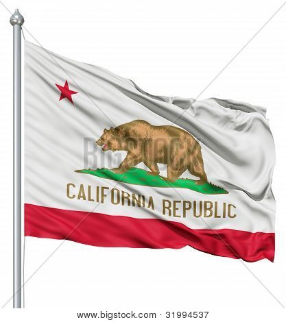 Waving Flag of USA state California