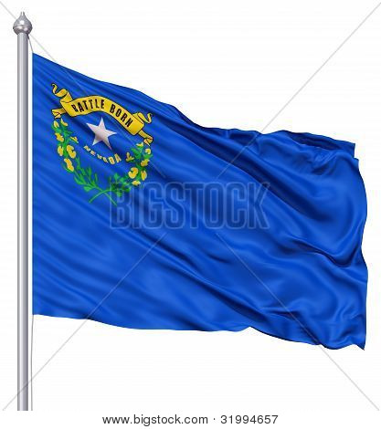 Waving Flag of USA state Nevada