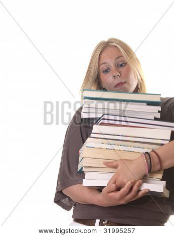 Girl With Study Books