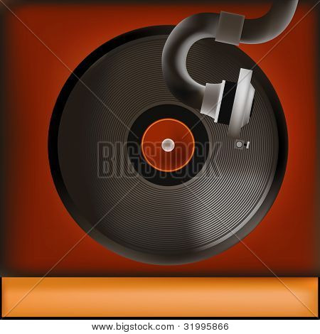Vintage Record Player Background