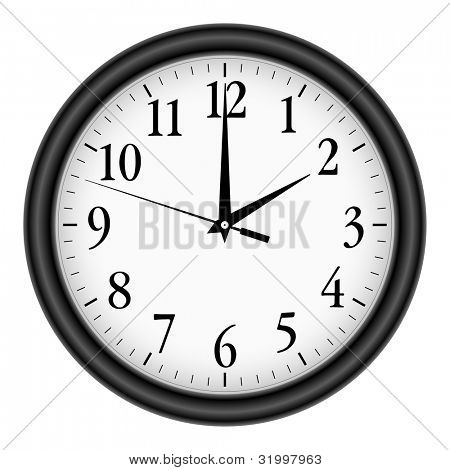 Wall clock on white background.